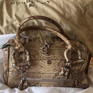 Burberry phyton  bag